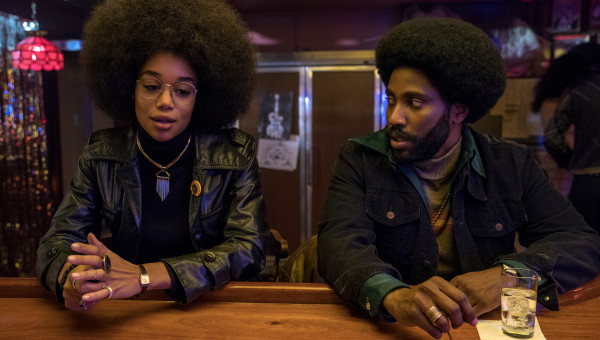 4117_D015_07703_R Laura Harrier stars as Patrice and John David Washington as Ron Stallworth in Spike Lee's BlacKkKlansman, a Focus Features release. Credit: David Lee / Focus Features